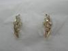 0711 золотые серьги с бриллиантом