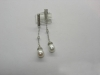 0793 серебряные серьги с жемчугом