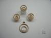 1480 Комплект золотые серьги и кольца с бриллиантами