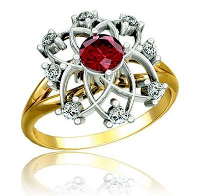 Кольцо с рубином Ювелирная Мастерская Romans Gold