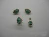 0714 Комплект золотые серьги и кольца с нефритом
