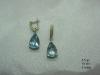 DN0354 Комплект золотые серьги с голубыми бриллиантами